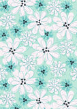 Flowers with stitching. Vector illustration of a floral repeat pattern Stock Image