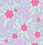 Flowers and strawberry. Seamless pattern with flowers and strawberry Stock Photography