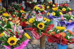 Flowers in street market Stock Image