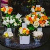 Flowers on street Stock Photo