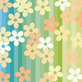 Flowers and stripes Stock Image