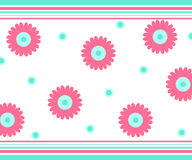 Flowers and stripes Royalty Free Stock Photos