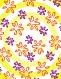 Flowers with stripes. On blue background Stock Images