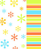 Flowers and stripes pattern Royalty Free Stock Photo