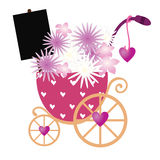 Flowers in stroller Royalty Free Stock Photography