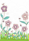 Flowers Style Title_eps vector illustration