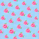 Flowers (stylized roses) seamless camo background Royalty Free Stock Images