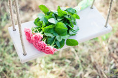 Flowers on a swing Royalty Free Stock Photos