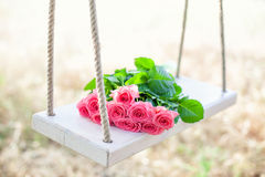 Flowers on a swing Stock Photography