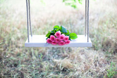 Flowers on a swing Stock Images
