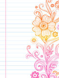 Flowers and Swirls. Hand-Drawn vector Flower and Swirls Stock Images