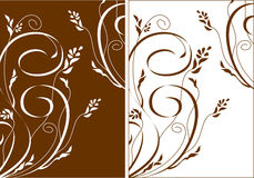 Flowers and swirls backgraund. Refined and beautiful. Ideally for your use vector illustration