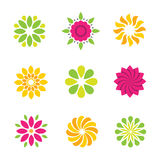 Flowers symbol and icons Royalty Free Stock Photo