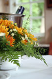 Flowers on the table. Picture of a flowers on the table in the dining room stock images