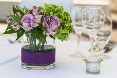 Flowers on a table Royalty Free Stock Image