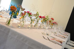 Flowers on table Royalty Free Stock Image