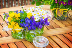 Flowers, table decorations, Easter Stock Images