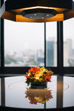 Flowers on table. Some flowers to decorate the place. love the reflections Royalty Free Stock Images