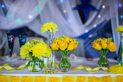 Flowers on the table Royalty Free Stock Photography