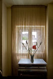 Flowers on the table by the window Stock Photography