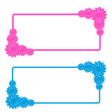 Flowers tag on white background Royalty Free Stock Photography