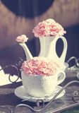 Flowers and tea Stock Image