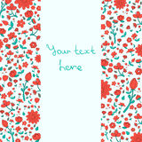 Flowers text placeholder both sides red color Stock Photos