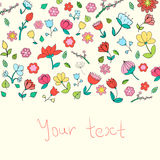 Flowers text placeholder color vector illustration Stock Photo