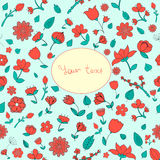 Flowers text placeholder vector illustration Stock Photography