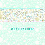 Flowers text placeholder vector illustration Stock Photo