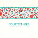 Flowers text placeholder  vector illustration Royalty Free Stock Photos