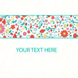 Flowers text placeholder vector illustration Royalty Free Stock Image