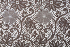 Flowers on a textil background Stock Image