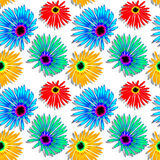 Flowers texture. Flowers shadowed texture, abstract seamless pattern; vector art illustration Royalty Free Stock Images