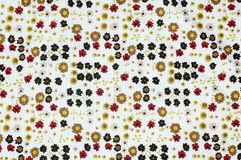 Flowers texture. This is a cloth that have some flowers texture Royalty Free Stock Photo