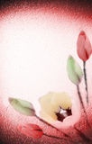 Flowers on textured background. Good for greeting card Stock Images