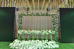 Flowers to decorate the wedding stage Stock Photo