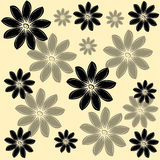 Flowers on toffee background. Vector illustration Royalty Free Stock Images