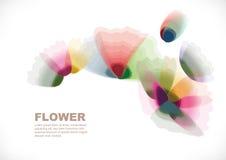 Flowers. Transparent flower background different shape Stock Photos