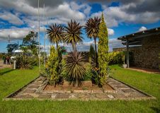 Flowers and trees at the Nelson Mandela Museum in Qunu. In South Africa Royalty Free Stock Photo