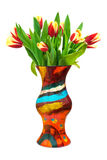 Flowers tulips in vase Royalty Free Stock Photos