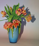 Flowers. Tulips in vase Royalty Free Stock Photos