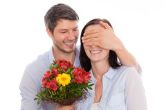 Flowers valentine couple Stock Images