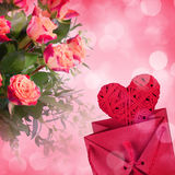 Flowers for valentines or mothers day Stock Photos