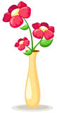 Flowers in vase. Illustration of isolated flowers in vase on white background Royalty Free Stock Photos