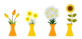 Flowers in vase Stock Photos