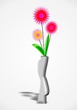 Flowers in a vase royalty free stock photography