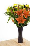 Flowers in vase Stock Images