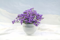 Flowers in a vase. 2. Bouquet of purple flowers in a vase stock photos