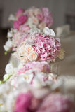 Flowers in the vase. Elegance set up for wedding ceremony Royalty Free Stock Images